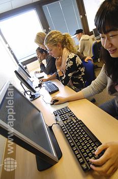 Sala de ordenadores de la escuela