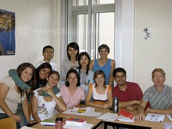 Estudiantes en nuestra escuela