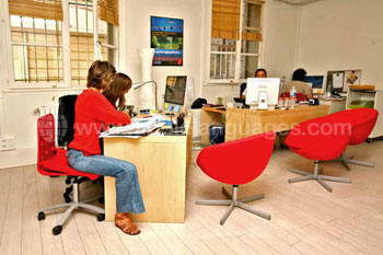 Oficina administrativa de la escuela