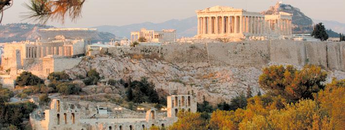 Vista del antiguo Panten�n de Atenas