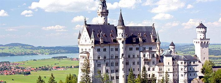 Castillo de Neuschwanstein cerca de Augsburgo
