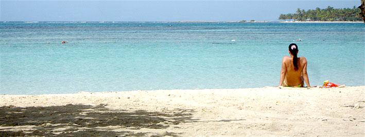 Playa tranquila en Guadalupe
