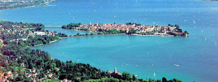 Vista aérea de la isla de Lindau