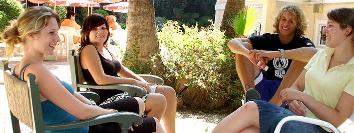 relajandose en la escuela , Málaga