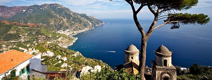 Ravello, costa Almalfi cerca de Nápoles