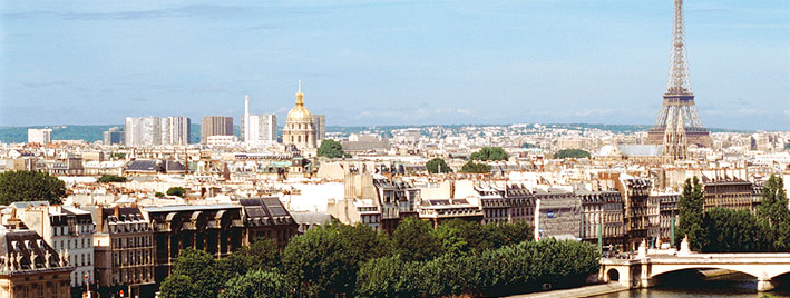 Vista de París con la Torre Eiffel