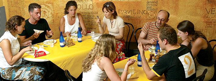 Café de nuestra escuela italiana en Roma