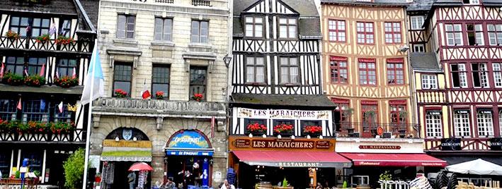 Centro de Rouen, Francia