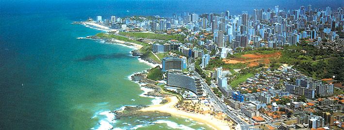 Vista a�rea de Salvador de Bah�a