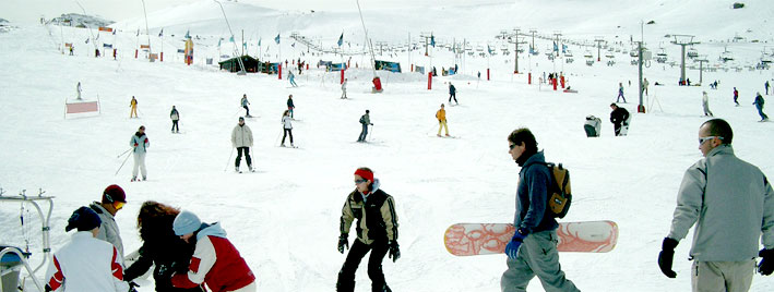 Español y esquí en Granada